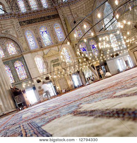 Interior of the Blue mosque - Sultanahmet mosque
