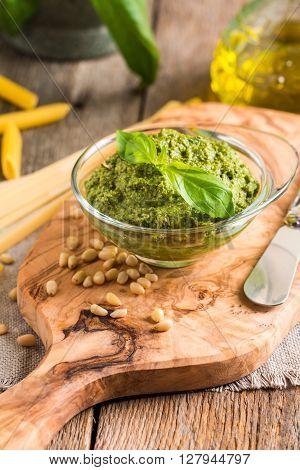 Green Basil Pesto Sauce