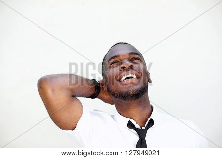 Young African Businessman Laughing