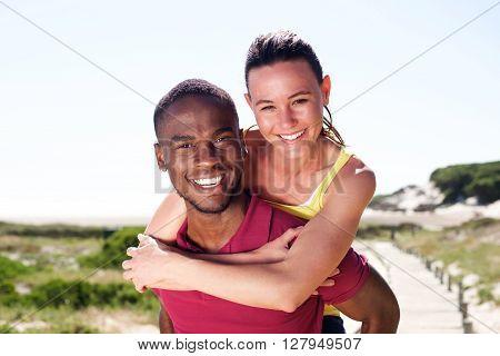 Cheerful Young Couple Enjoying Summer
