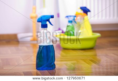 Spray Bottle For Cleaning On The Floor