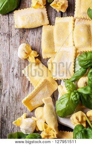 Pasta Ravioli With Basil