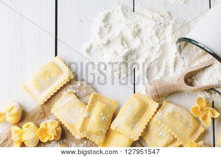 Pasta Ravioli On Flour