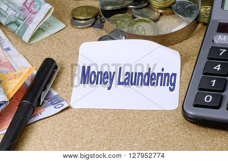 Money Laundering Word - Business Finance Concept
