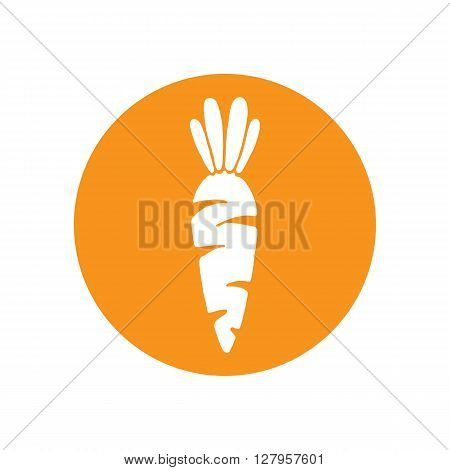 Carrot vector icon. Carrot icon isolated on white background. Veg icon illustration. Carrot vegetable food vector flat style