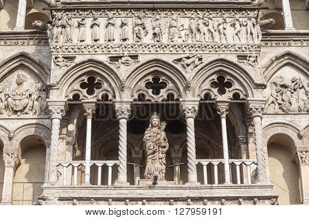 Ferrara (Emilia-Romagna Italy) - The cathedral facade in romanesque style