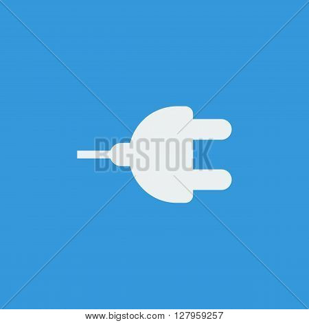 Plug Icon In Vector Format. Premium Quality Plug Symbol. Web Graphic Plug Sign On Blue Background.