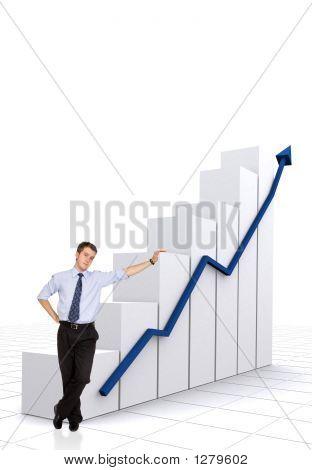 Business Statistics In White - Businessman