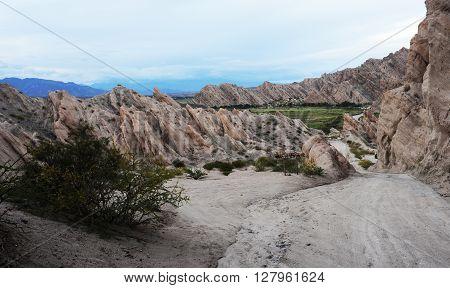 Quebrada de la Flechas national park on argentina andes
