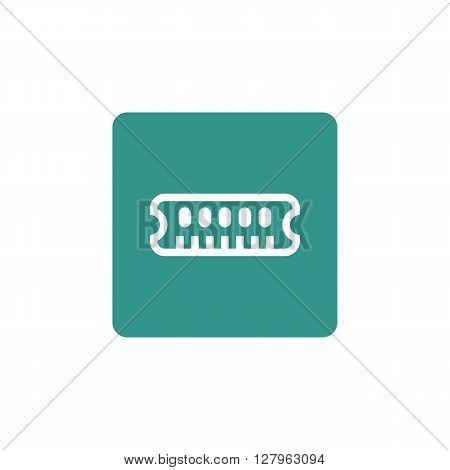 Ram Icon In Vector Format. Premium Quality Ram Symbol. Web Graphic Ram Sign On Green Background.