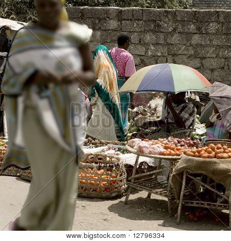 A market in Kenya
