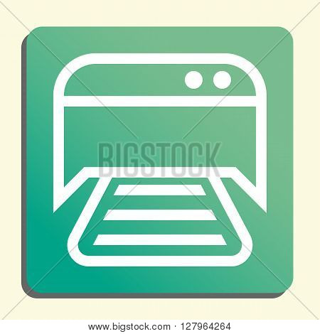 Printer Icon In Vector Format. Premium Quality Printer Symbol. Web Graphic Printer Sign On Green Lig