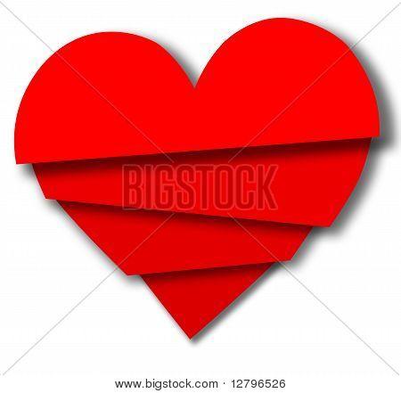Broken Valentine Heart Pieces Overlap
