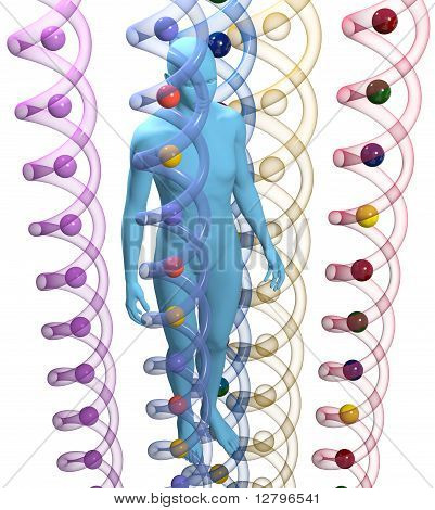 Human 3D Dna Genetic Science Person