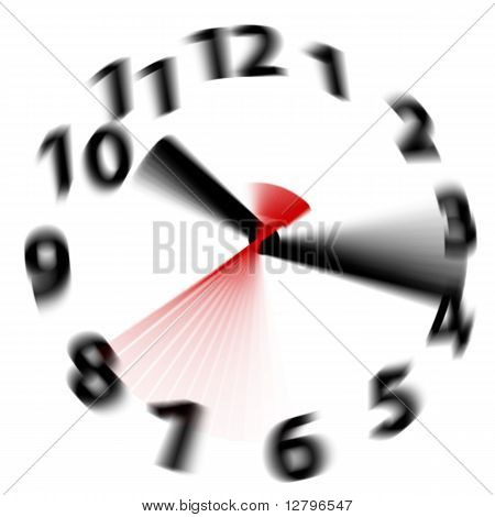 Time Flies Speed Blur Fast Hands Clock
