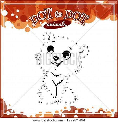 Educational game for kids: Dot to Dot. Connect the dots puzzle. Worksheet for class or at home with the kids.