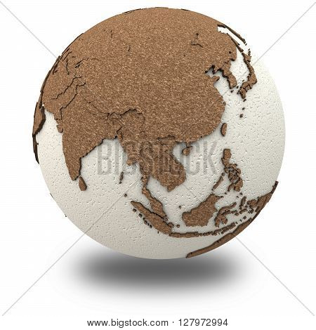 Southeast Asia On Light Earth