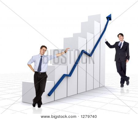 Business Growth And Success Chart With Business Men