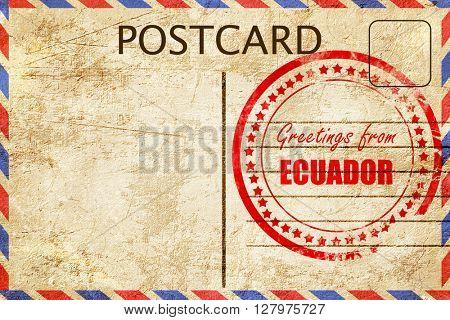 Greetings from ecuador