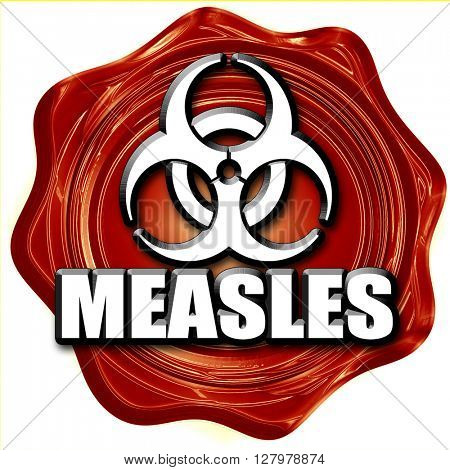 Measles concept background