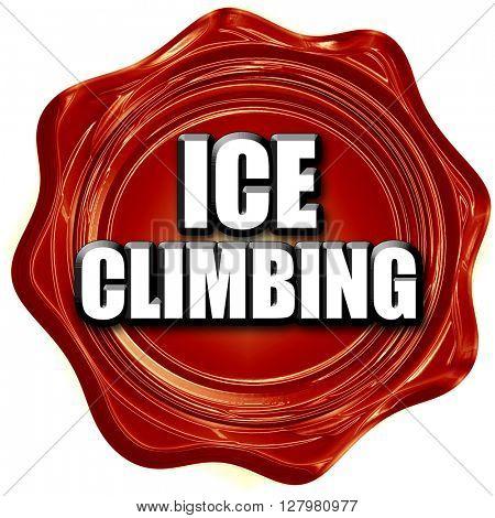 ice climbing sign background