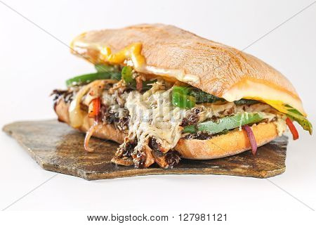 Tasty Vegetarian Sandwich In A Ciabatta