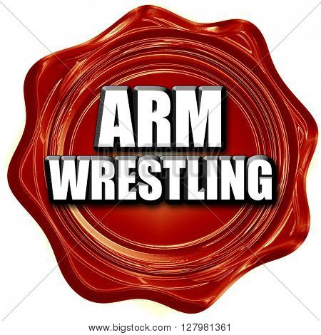 arm wrestling sign background