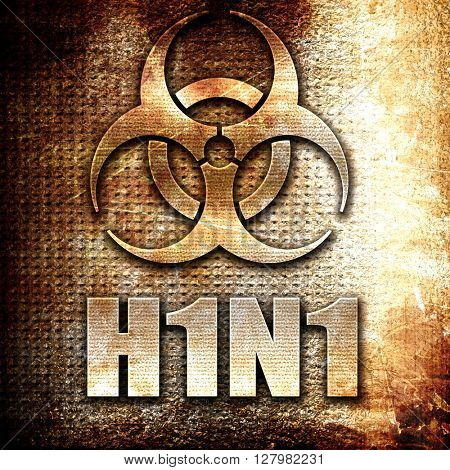 H1N1 virus concept background