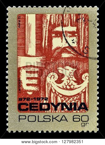 POLAND - CIRCA 1972 : Cancelled postage stamp printed by Poland, that shows Knight of King Mieszko.
