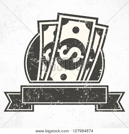 Paper Bank Notes In Grey