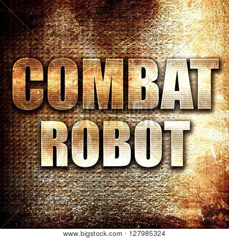 combat robot sign background