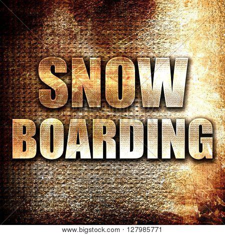 snowboarding sign background