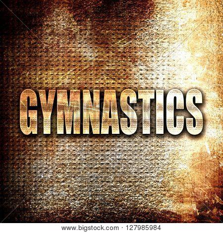 gymnastics sign background