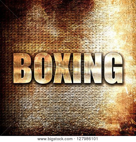 boxing sign background