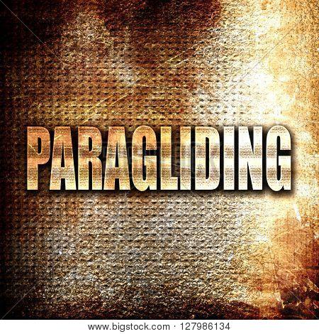 paragliding sign background