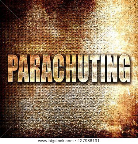 parachuting sign background