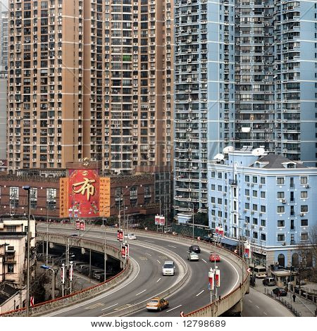 Urban highway in Shanghai