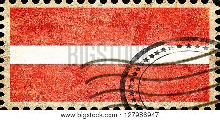 Grunge postal stamp