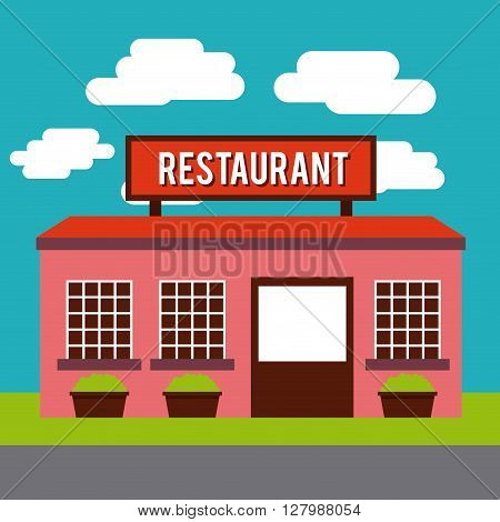 restaurant outside design, vector illustration eps10 graphic