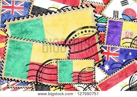 Benin vintage  postal stamp