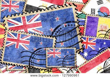 New zeeland vintage  postal stamp