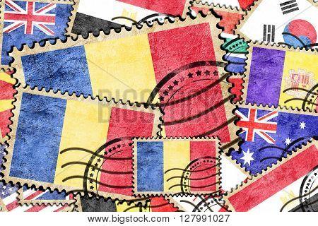 Romania vintage  postal stamp