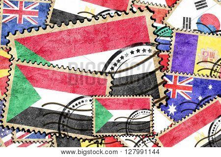 Sudan vintage  postal stamp