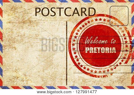 Vintage postcard Welcome to pretoria