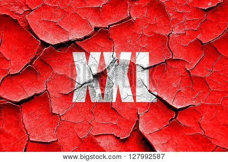 Grunge cracked xxl sign background