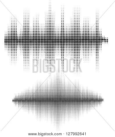 Vector sound waves set. Vector illustration of music pattern and texture. You can use in club radio pub DJ show party concerts recitals or the audio technology advertising background..