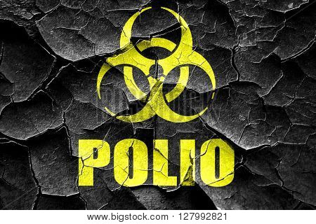 Grunge cracked Polio concept background