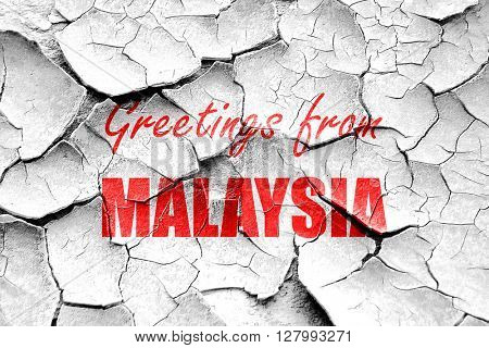 Grunge cracked Greetings from malaysia