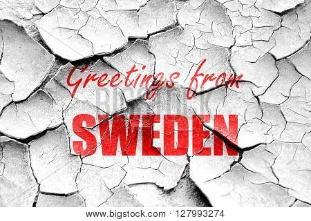 Grunge cracked Greetings from sweden