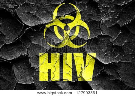 Grunge cracked Aids virus concept background